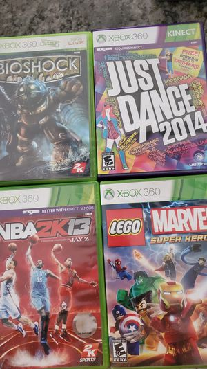 Lot of 4 Microsoft XBOX 360 games NOT SELLING SEPARATELY all for $20 for Sale in Clovis, CA