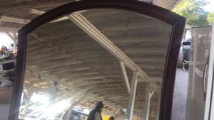 Curved wood beveled mirror for Sale in Pensacola, FL