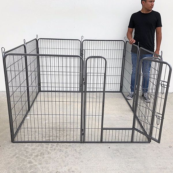"""(NEW) $110 Heavy Duty 40"""" Tall x 32"""" Wide x 8-Panel Pet Playpen Dog Crate Kennel Exercise Cage Fence Play Pen"""