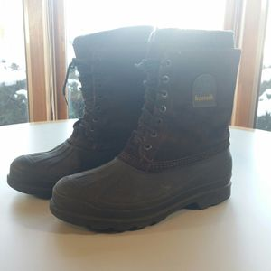 Men's Boots 11 M Kamik Waterproof Duck Removable Insulated Liner Brown Suede Rubber for Sale in Willowbrook, IL