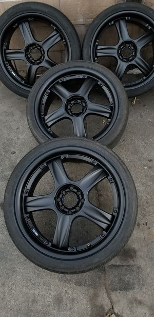 "18"" inch ENKEI RACING RIMS 4 lug universal for Sale in Diamond Bar, CA"