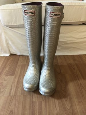 Limited Edition Hunter Rain Boots - Gold Snakeskin for Sale in Durham, NC