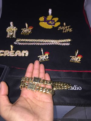 14KT Gold Filled Cuban Chain and Bracelet!! We Do Custom Work!! Best Top Quality!! Contact us for more details!! for Sale in Portland, OR