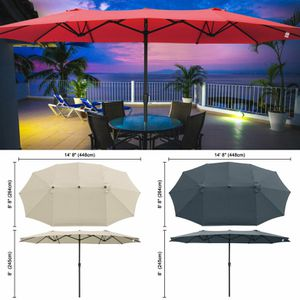 Outdoor 15x9 ft Patio Oval Patio Garden Lawn Umbrella with Wind Vent. Stand Sold Separately. for Sale in Chino, CA