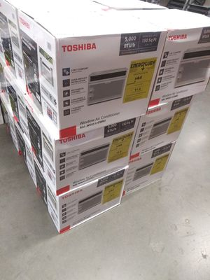 EACH FOR SALE NEW AC WINDOW TOSHIBA 5,OOO BTU FOR ANY QUESTION TEXT ME ANY TIME THANKS. for Sale in Los Angeles, CA