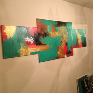 Authentic hand painted abstract art by Audrey Lea for Sale in Nashville, TN