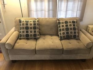 Tan/Beige fabric couch for Sale in Washington, DC