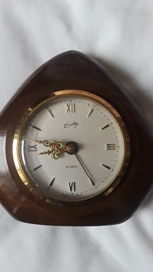 Gorgeous German Antique winding alarm small desk clock. Made in Germany. for Sale in New York, NY
