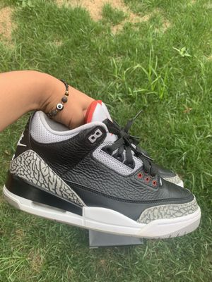 Jordan 3s black cement size 9 for Sale in Riverdale Park, MD