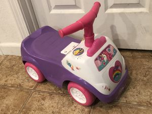 Unicorn ride on car toddler toy for Sale in Manteca, CA