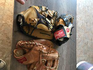 Baseball gloves and baseballs for Sale in Riverside, CA