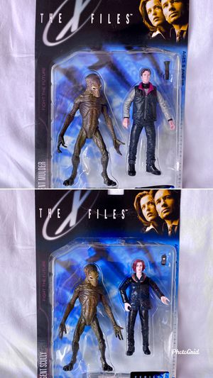 The X Files Agent Mulder & Agent Scully Action Figures for Sale in Flemington, NJ