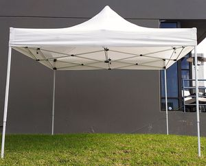 Brand New $100 Heavty-Duty 10x10 FT Outdoor Ez Pop Up Canopy Party Tent Instant Shades w/ Carry Bag (White) for Sale in Pico Rivera, CA