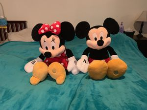 NEED GONE TODAY *best offer* Authentic Genuine Disney stores Mickey and Minnie set for Sale in Nashville, TN