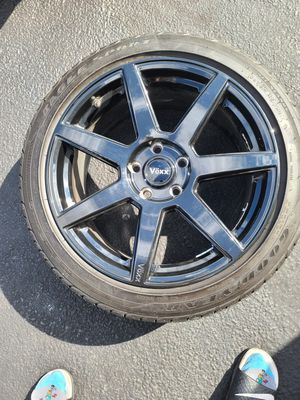Rims (Voxx) and Tires ( Goodyear)18*8 for Sale in Chesterfield, VA