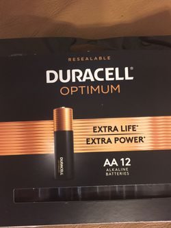 Duracell Optimum AA 12 Pack Batteries for Sale in Valrico,  FL