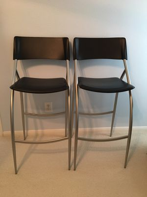 ITALIAN LEATHER BAR STOOLS - 2 pcs. for Sale in Sugar Land, TX