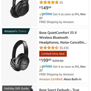 Bose QuietComfort 35 II Wireless Bluetooth Headphones, Noise-Cancelling, with Alexa voice control - Black for Sale in Vista, CA