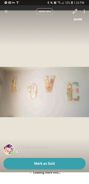 LOVE wall decor letters for Sale in San Angelo, TX