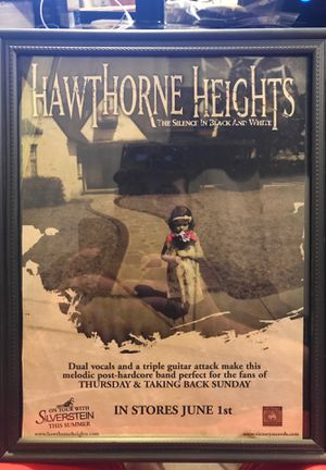 Hawthorne Heights Cd release 8x11 promo framed mini poster for Sale in Brunswick, OH