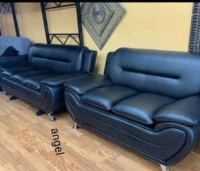 🎁BRAND NEW 🎗Enna Black Sofa & Loveseat | U2701 48 for Sale in Beltsville,  MD