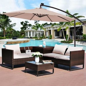 """10"""" Patio Hanging Solar Led Umbrella Sun Shade-Beige OP3154BE#14 for Sale in Irvine, CA"""