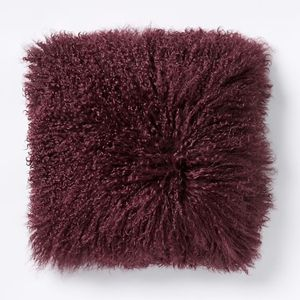West Elm Mongolian Lamb Fur Wool Pillows, set of 2 for Sale in Castro Valley, CA