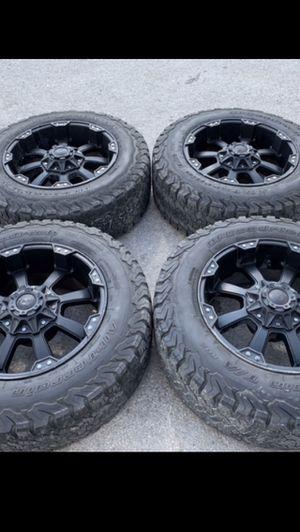 "20"" Ballistic Black Rims And BFG tires 20 off road wheels 20s rines negros y Llantas will Fit Ford F150 , Chevy Silverado, GMC Sierra , Toyota Tacoma for Sale in Dallas, TX"