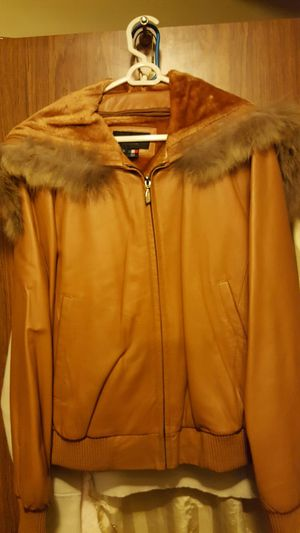XLarge Leather Jacket with the hood for Sale in New York, NY