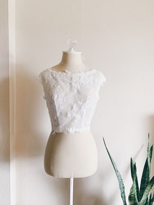 Bridal lace topper bridal bolero for Sale in Newark, CA