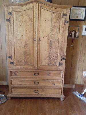 Omish handmade all ashwood armoire for Sale in Alexandria, LA