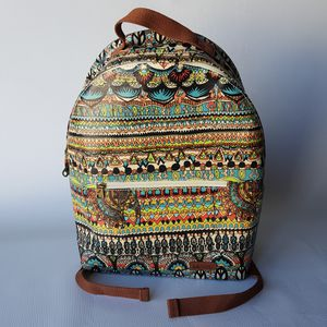Sakroots Rockaway Elephant/Tribal Print Backpack Laptop Color Natural One World for Sale in Las Vegas, NV
