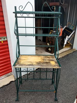Steel indoor outdoor plant stand shelf for Sale in Crestwood, IL