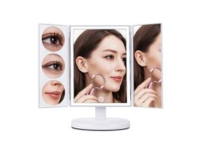 MAKARTT XLarge Lighted Big Makeup Mirror 3X/5X/10X Magnifying Trifold Vanity Mirror for Sale in Los Angeles, CA