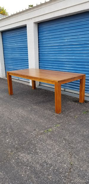 """Large solid wood dining table. Made in Indonesia. Measures approx: 86.5"""" long x 41.5"""" wide x 30"""" tall. for Sale in Phoenix, AZ"""