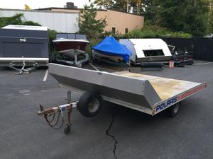 "1998 Featherlite 10'x101"" open aluminum trailer with shield will trade for Sale in Westford, MA"