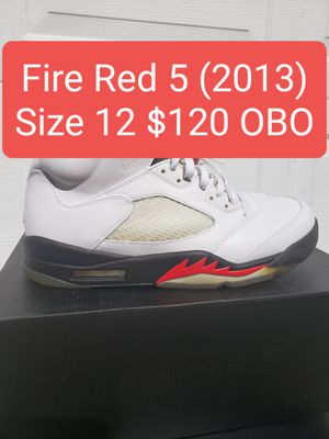 Air Jordan Retro 5 Fire Red 5 (2013) Size 12 for Sale in Winter Haven, FL