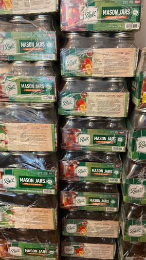 Mason Jars Wide mouth 32oz canning jars 12pk 16 oz for Sale in Nashua, NH