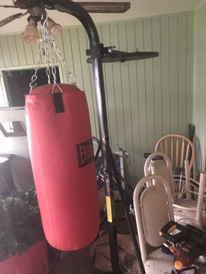 Everlast boxing bag w/ stand & speed-bag attachment for Sale in Pikesville, MD