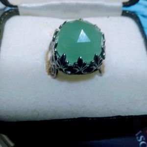 Beautiful ❤️ Green Stone 925 Silver Ring,💯. Size 7.🎁🎁🎁.Pick It Up In Lake Worth 🎁 for Sale in West Palm Beach, FL