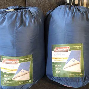Coleman sleeping bags adult regular for Sale in Meriden, CT