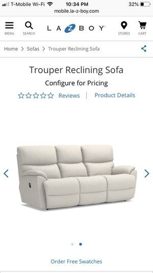 Lazyboy Trouper Reclining Sofa for Sale in Sterling, VA