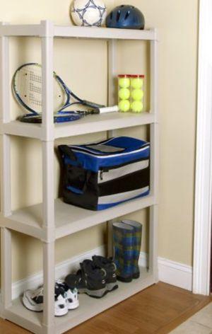 New!! Shelving display, organizer, storage unit, 4 shelves heavy duty organizer, garage furniture, family room furniture for Sale in Phoenix, AZ