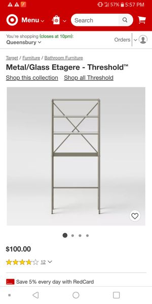 New in box over toilet space saver glass shelves for Sale in Mount Pleasant, MI