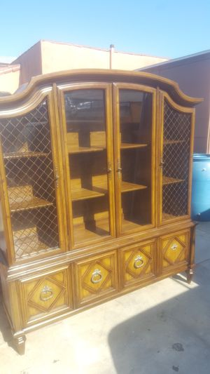 Antique wood china cabinet for Sale in Los Angeles, CA