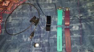 Fitbit charge 2 with 3 bands, charger and bluetooth connector for Sale in Crofton, MD