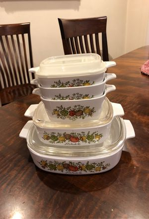 Vintage Pyrex Corningware vegetable print for Sale in Los Alamitos, CA