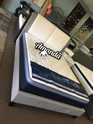 """Queen bed frame with 11"""" hybrid mattress included for Sale in Glendale, AZ"""