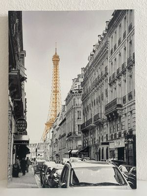 Paris Eiffel Tower Gold Black and White Wall Art for Sale in Melbourne, FL