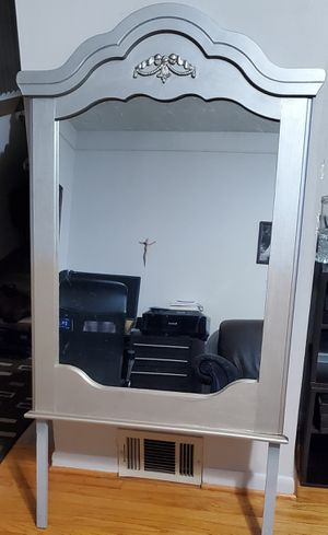 Large 2-Tone Gold & Silver Ombre Effect Vanity Mirror.. Newly Refinished. for Sale in Dearborn Heights, MI
